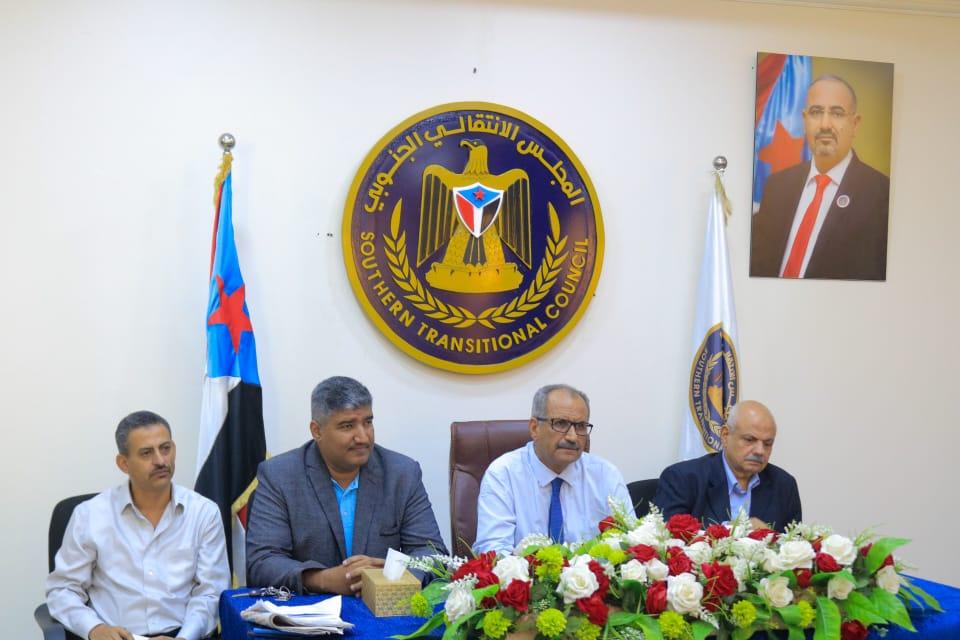 الجعدي يترأس لقاءً مشتركاً بين دوائر الأمانة العامة وتنفيذية انتقالي العاصمة عدن