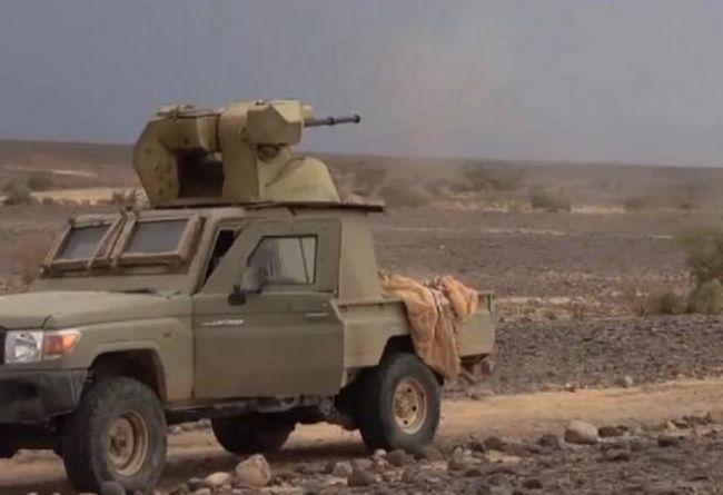 """مجلة امريكية تكشف عن عربة قتالية جديدة صنعها الحوثيون تطلق 330 رصاصة في الدقيقة وهذا هو اسمها """" صورة """""""