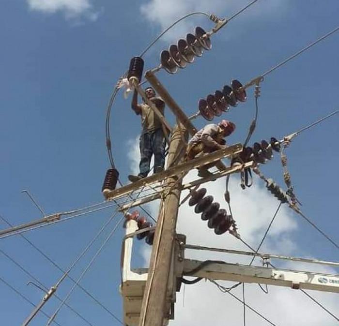 صيانة شبكة كهرباء بئر فضل 2 بعدن