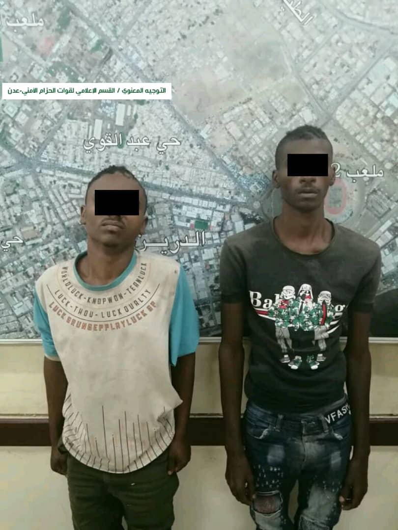 قوات الحزام الأمني تلقي القبض على عصابة تمارس أعمال السرقة في العاصمة عدن